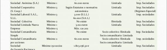 Formas Jurídicas de Constitución de la empresa